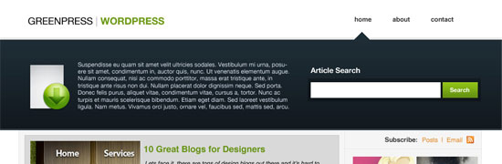 psdvibe-green-wordpress-theme